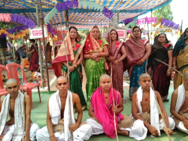 उत्कल ब्राह्मण महिला सेवा समिति रायगढ़ ने किया सामुहिक ब्रतोपनयन संस्कार बटमूल आश्रम बनोरा में सम्पन्न