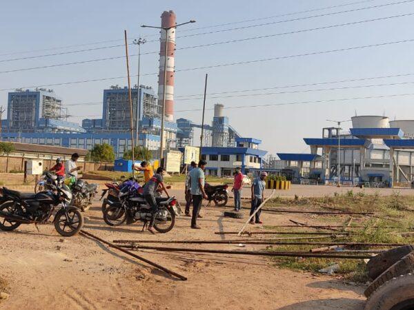 एनटीपीसी लारा संयंत्र के मुख्य द्वार पर चल रहा धरना समाप्त